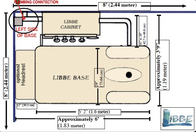 floor plan for LIBBE plumbing